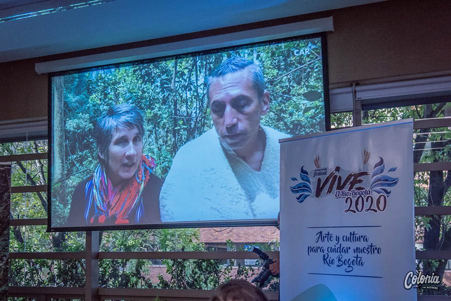Lanzamiento Festival Vive el Río Bogotá Andrea y Hector